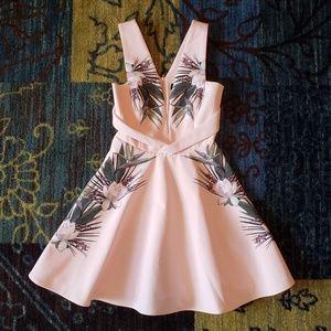 Stylestalker Lotus Flower A-Line Dress